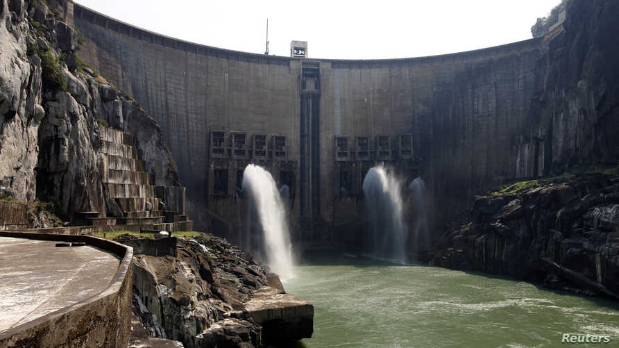 A view of Cahora Bassa dam in Tete province, Sept. 22, 2010. Cahora Bassa dam is located on the Zambezi River.