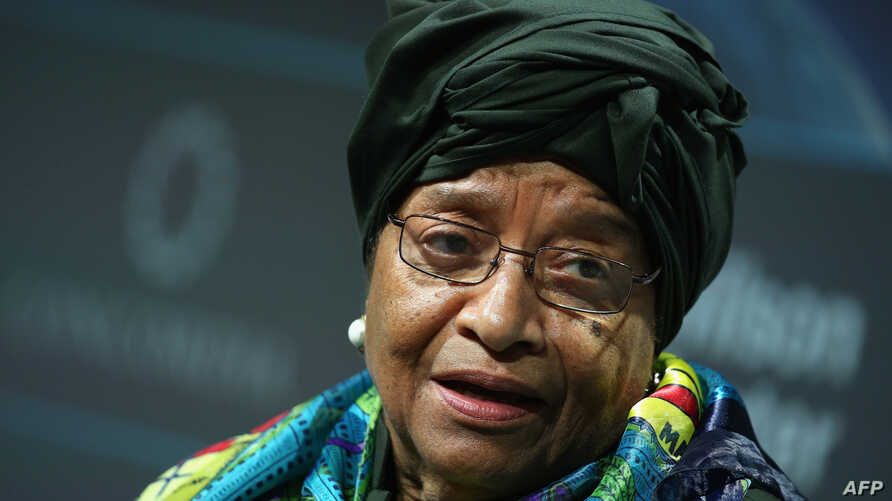 President of Liberia, Ellen Johnson Sirleaf speaks at the 2016 Concordia Summit - Day 2 at Grand Hyatt New York, in New York City, Sept. 20, 2016.