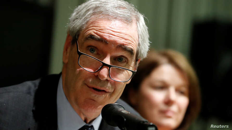 Michael Ignatieff, rector of the Central European University speaks during a news conference in Budapest, Hungary, Dec. 3, 2018.
