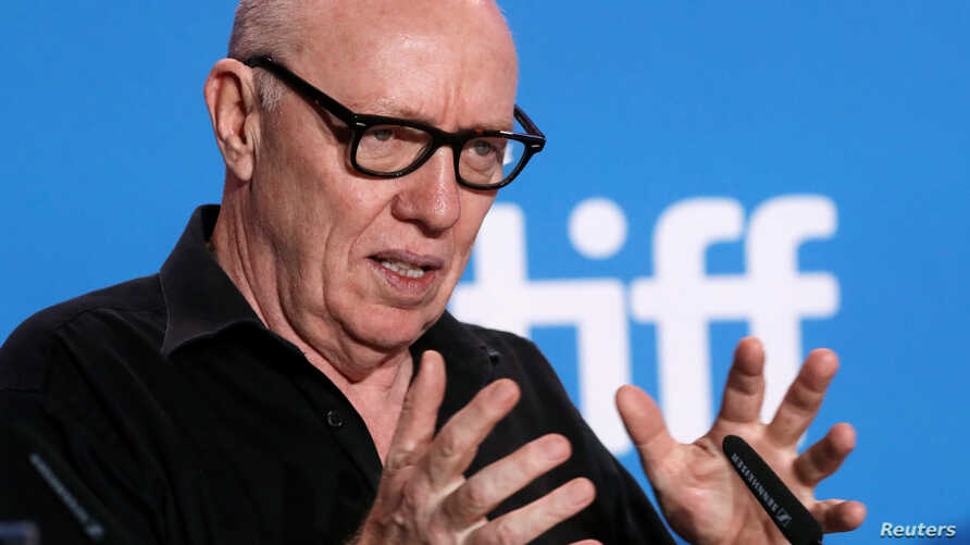 Director Terry George attends a press conference to promote the film The Promise at TIFF the Toronto International Film Festival in Toronto, Sept. 12, 2016.