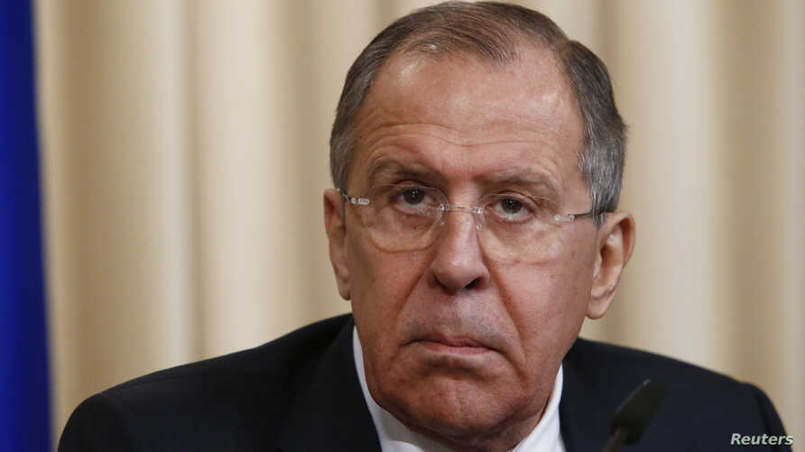 Russian Foreign Minister Sergei Lavrov attends a news conference in Moscow, Russia Feb. 7, 2017.