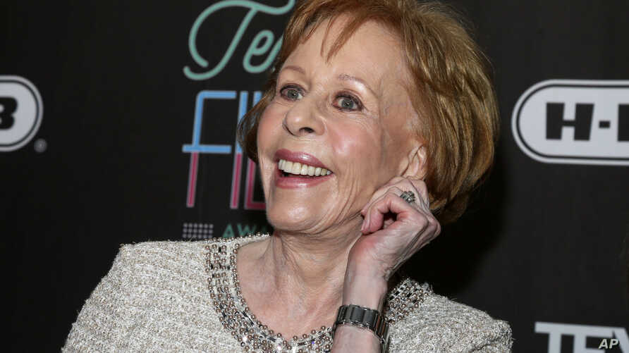 FILE - Comedian-actress Carol Burnett appears at the 2016 Texas Film Awards at Austin Studios in Austin, Texas, March 10, 2016.