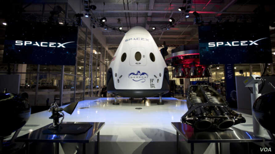 The Dragon V2 spacecraft is seen in this photo provided by SpaceX.