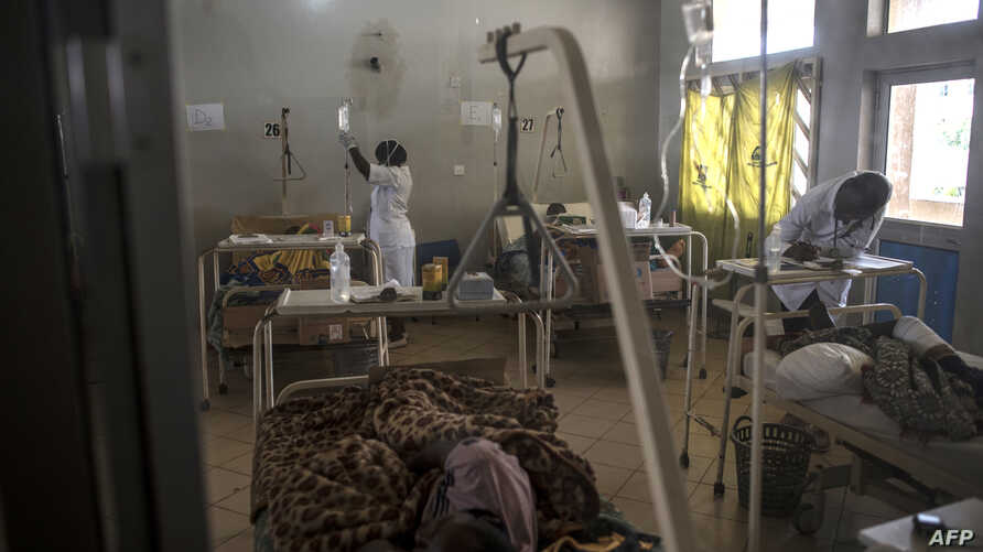A general view of the ward where victims of the farmer-Fulani clashes area are recovering at the Jos University Teaching Hospital on June 28, 2018.