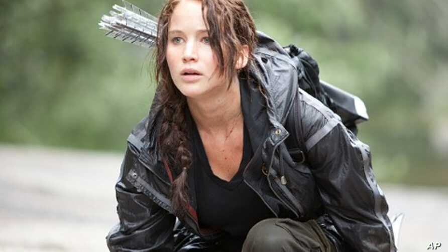 "Jennifer Lawrence in a scene from ""The Hunger Games"""