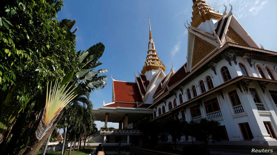 A general view of the National Assembly of Cambodia, in central Phnom Penh, Oct. 12, 2017.