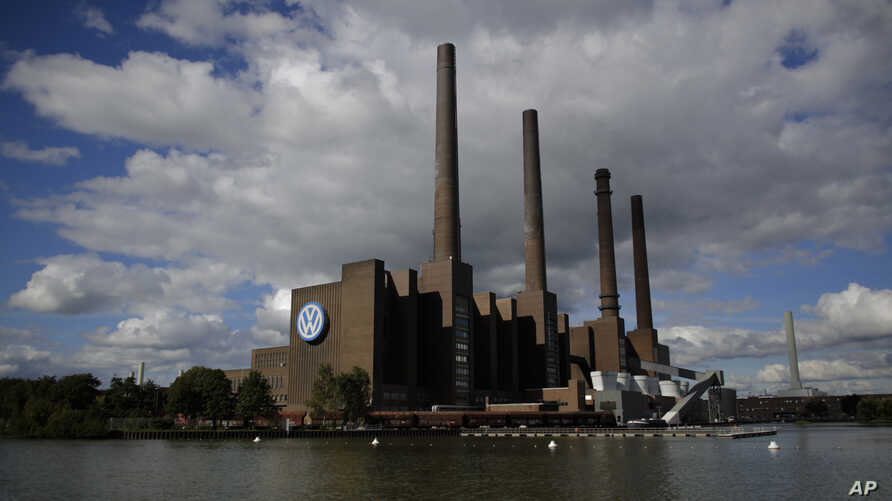 Power plant of the Volkswagen factory in the city Wolfsburg, Germany the hometown of Volkswagen, Sept. 29, 2015.