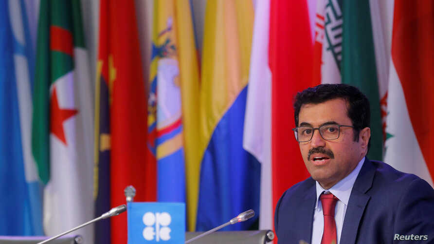 OPEC President Qatar's Energy Minister Mohammed bin Saleh al-Sada addresses a news conference after a meeting of the Organization of the Petroleum Exporting Countries (OPEC) in Vienna, Austria, Nov. 30, 2016.