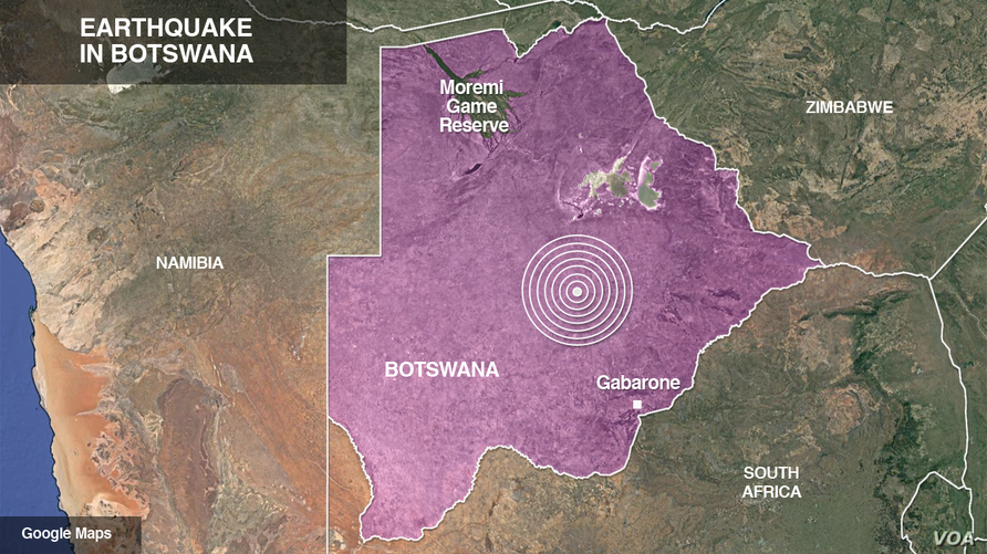 Earthquake in Botswana