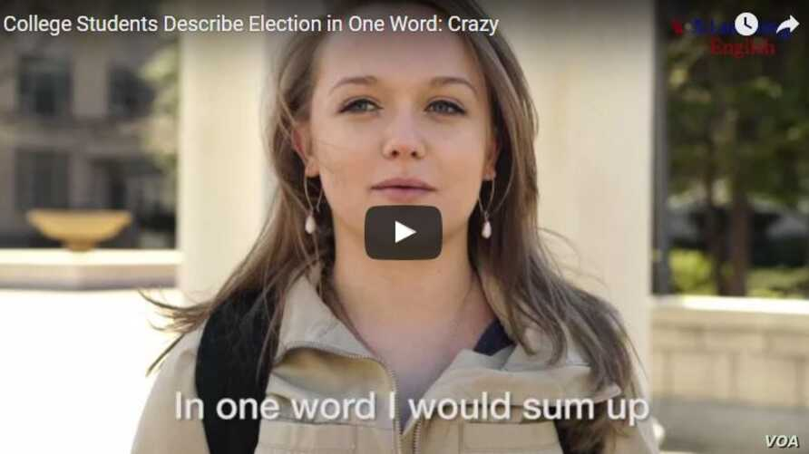 election in one word grab