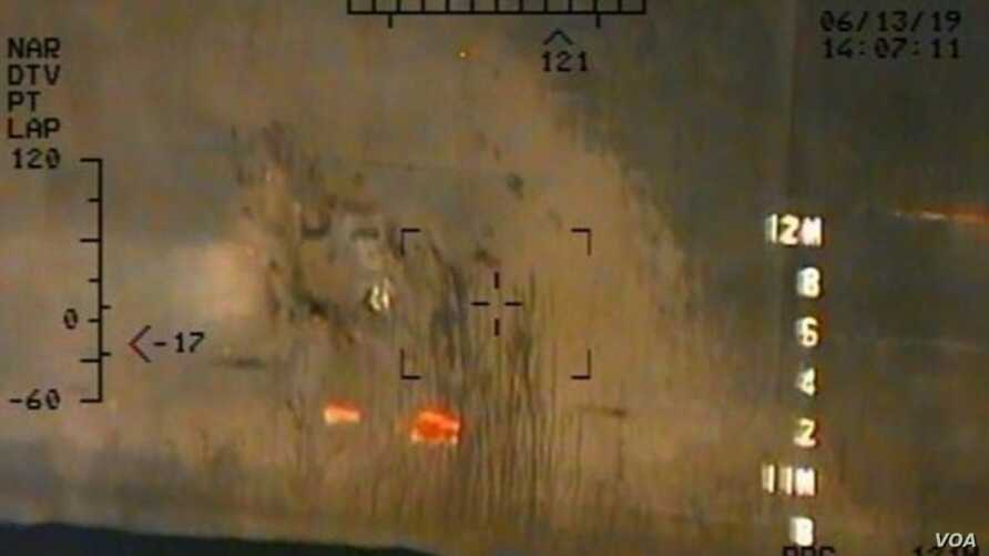 The Pentagon has released new photographs that it says offer more proof that Iran attacked two foreign oil tankers in the Gulf of Oman last week.