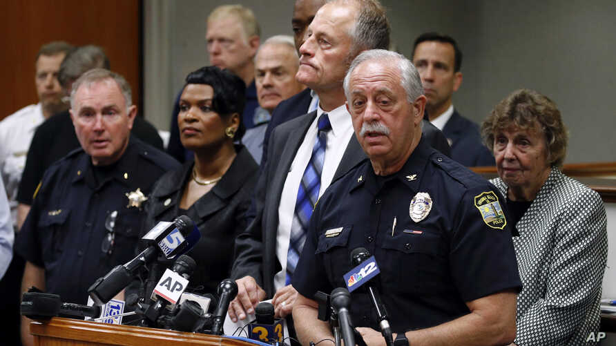 Virginia Beach Police Chief James Cervera speaks at a news conference on a shooting at a municipal building, June 1, 2019, in Virginia Beach, Va.