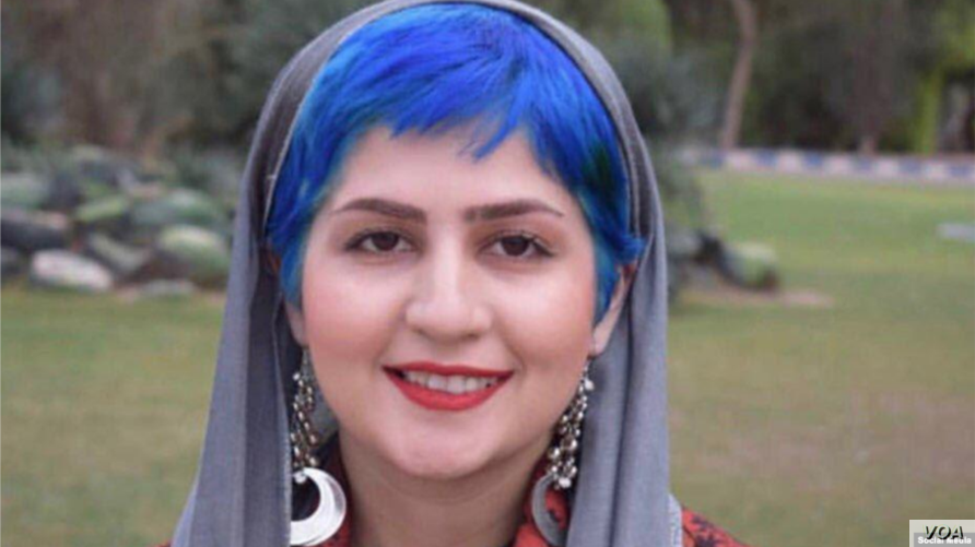 Detained Iranian journalists Sepideh Ghaliyan, seen in this undated photo shared on social media.