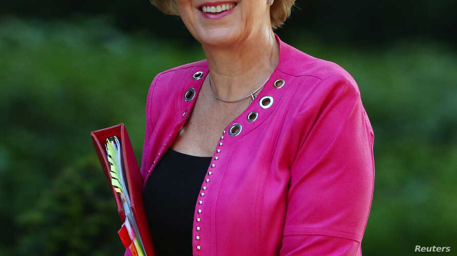 Britain's Conservative Party's leader of the House of Commons Andrea Leadsom is seen outside Downing Street, as uncertainty over Brexit continues, in London, Britain, May 21, 2019.