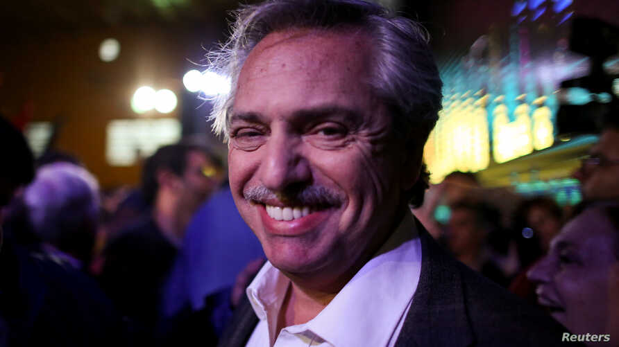 FILE - Alberto Fernandez of the Unidad Ciudadana party, pictured in Buenos Aires, Argentina, on Aug. 9, 2017, announced a presidential bid on May 18, 2019.