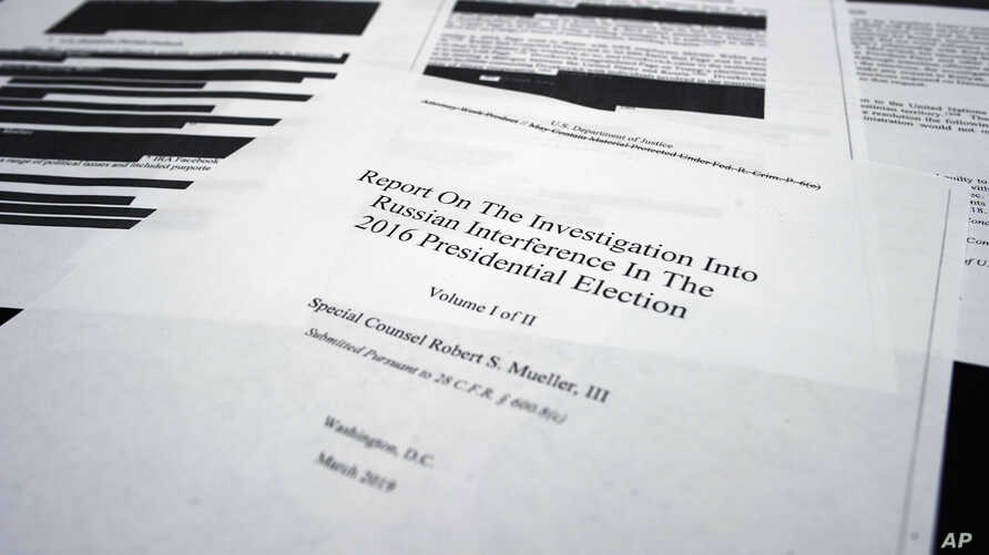 Redacted Mueller Report Released