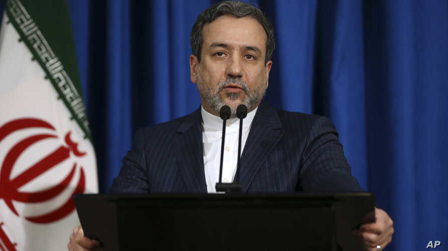 FILE - Iran's Deputy Foreign Minister Abbas Araghchi, who is also a senior nuclear negotiator, speaks with media in his press conference in Tehran, Iran, Jan. 15, 2017.