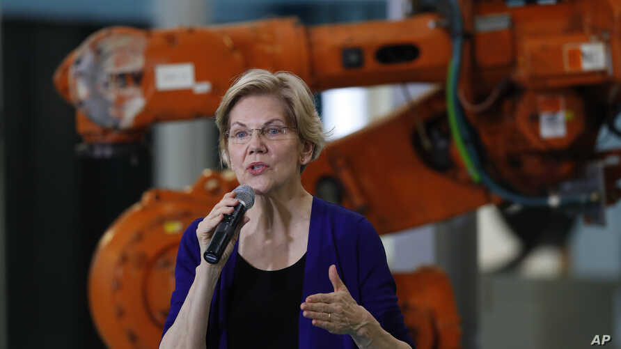 Democratic presidential candidate Sen. Elizabeth Warren, D-Mass., speaks at Focus: HOPE in Detroit, June 4, 2019.