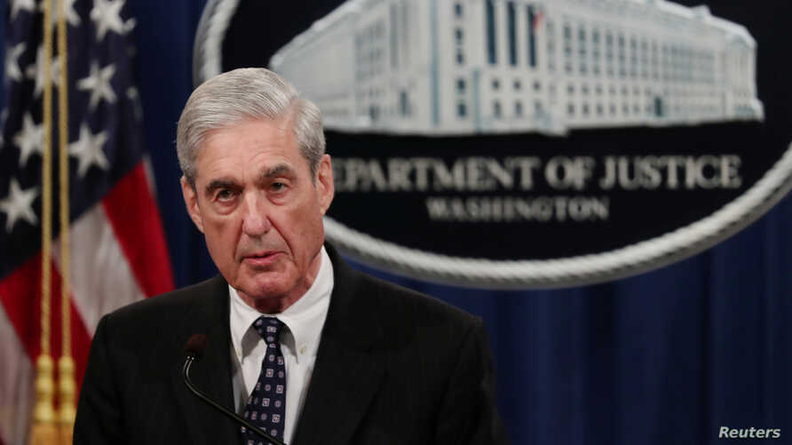 U.S. Special Counsel Robert Mueller makes a statement on his investigation into Russian interference in the 2016 U.S. presidential election at the Justice Department in Washington, May 29, 2019.