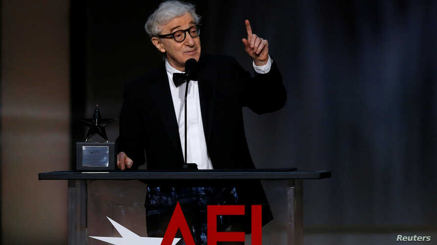 Director Woody Allen speaks on stage at the 2017 American Film Institute Life Achievement Award  Show, Los Angeles, California, U.S., August, 6, 2017.