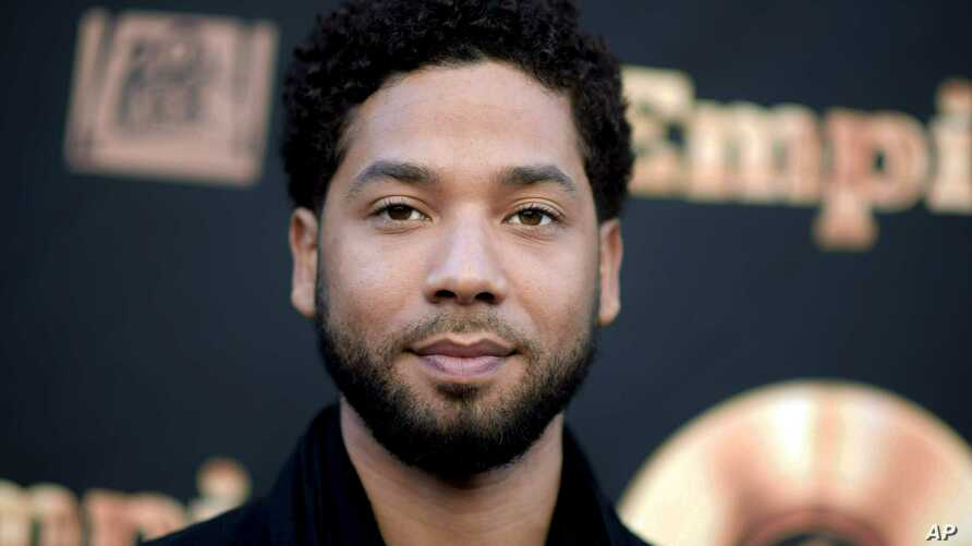 """FILE - Actor and singer Jussie Smollett attends the """"Empire"""" FYC Event in Los Angeles."""
