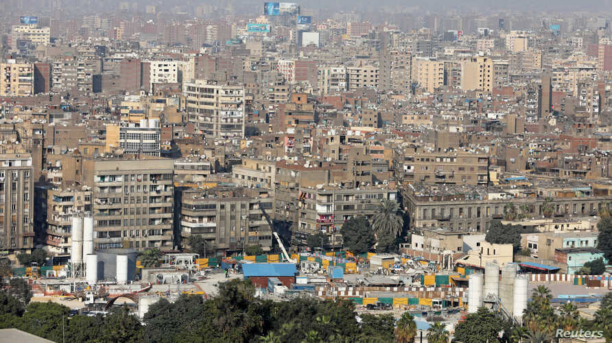 A general view of clustered buildings in Cairo, Egypt, Jan. 28, 2018.