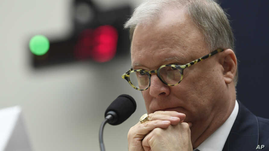 Robert L. Sumwalt, chairman of the National Transportation Safety Board, testifies during a House Transportation Committee hearing on Capitol Hill in Washington, May 15, 2019, on the status of the Boeing 737 MAX aircraft.