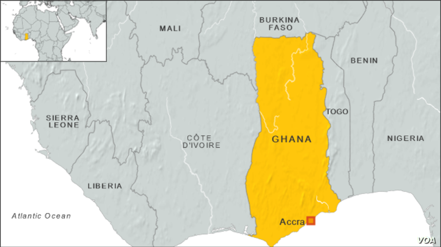 Map of Ghana
