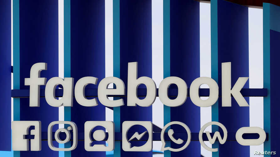 FILE - A Facebook panel is seen during the Cannes Lions International Festival of Creativity, in Cannes, France, June 20, 2018.