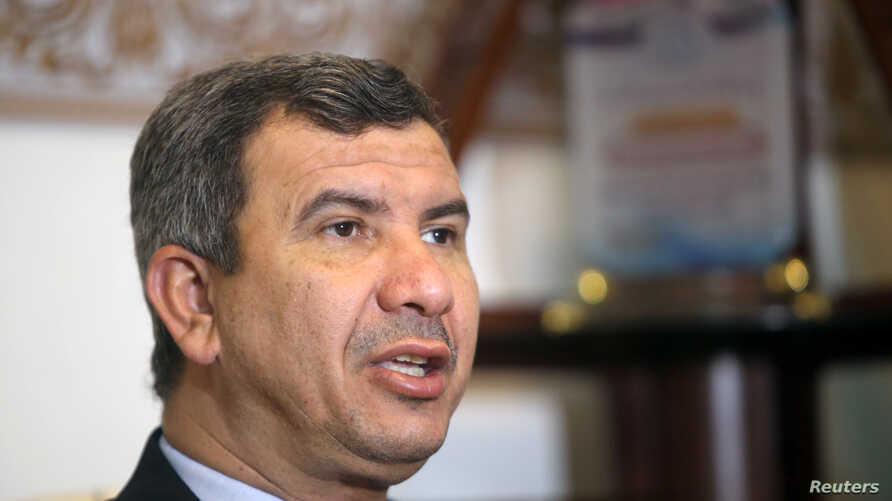South Oil Company chief Ihsan Abdul Jabbar speaks during an interview with Reuters in Basra, May 18, 2019.