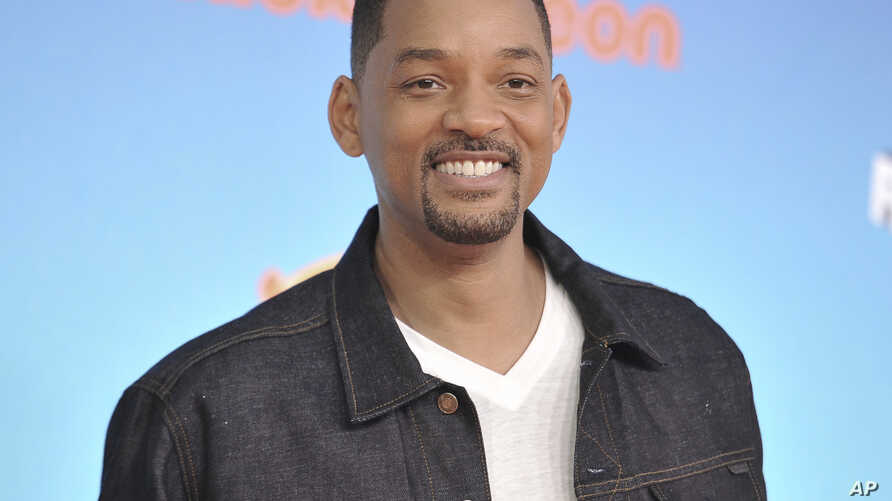 FILE - Will Smith arrives at the Nickelodeon Kids' Choice Awards in Los Angeles, March 23, 2019.