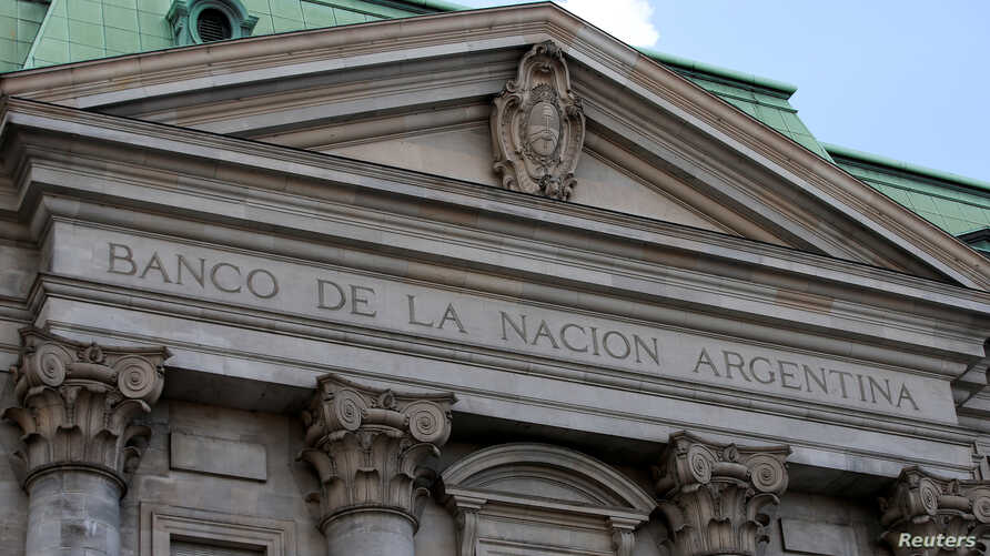 Argentina's Banco Nacion (national bank) facade, in Buenos Aires, Argentina March 26, 2019.