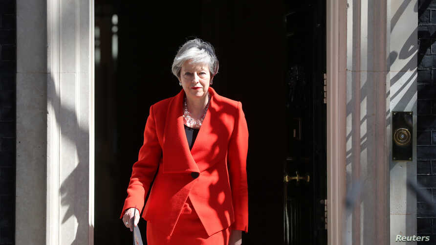 British Prime Minister Theresa May arrives to deliver a statement in London, Britain, May 24, 2019.