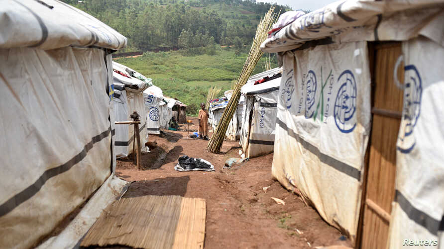 Makeshift shelters are seen at an unofficial camp for internally displaced people, who are victims of ethnic violence in Iga Barriere, Ituri province, in the eastern Democratic Republic of Congo, June 24, 2019.