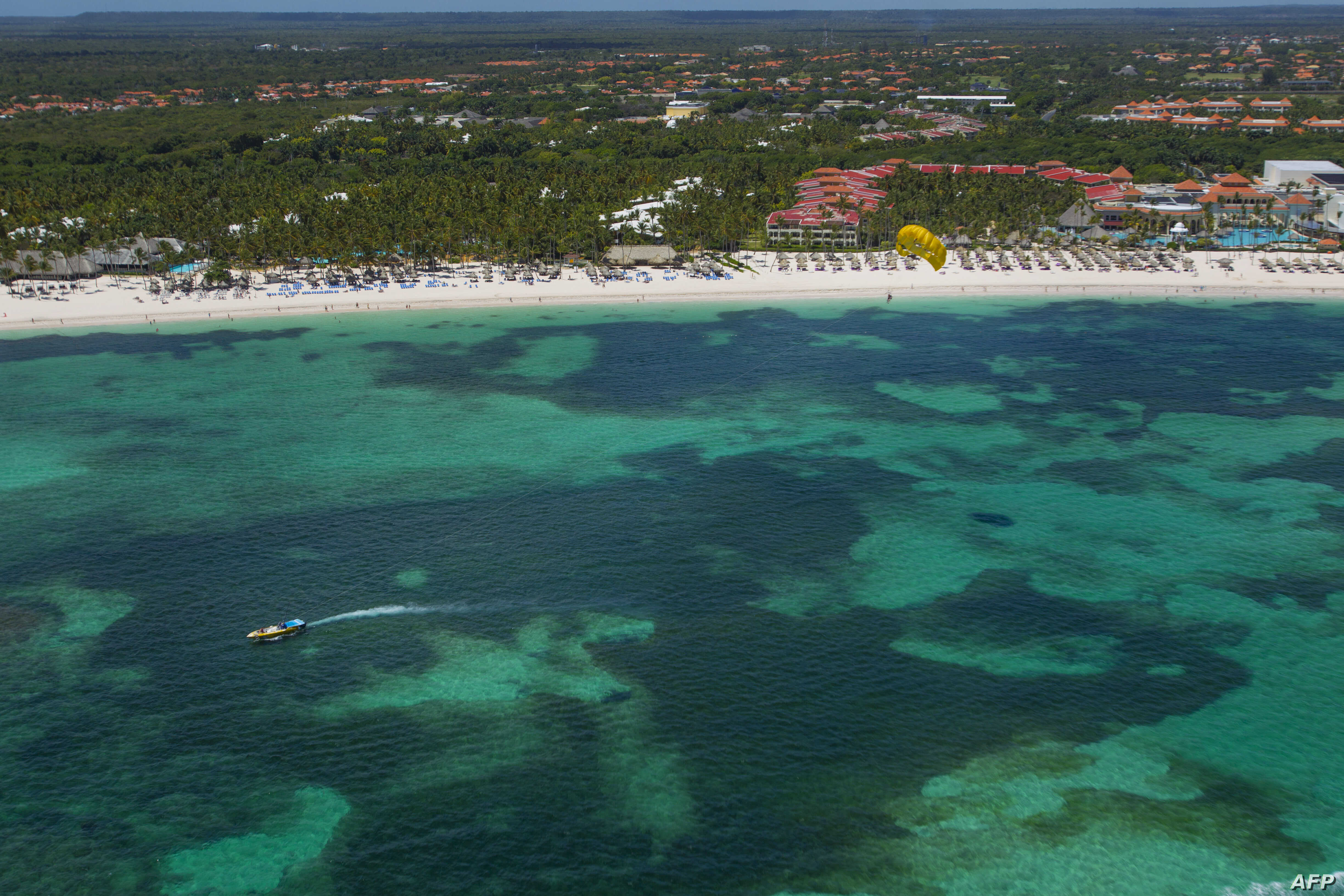 An aerial view of Punta Cana, is seen east of the Dominican Republic