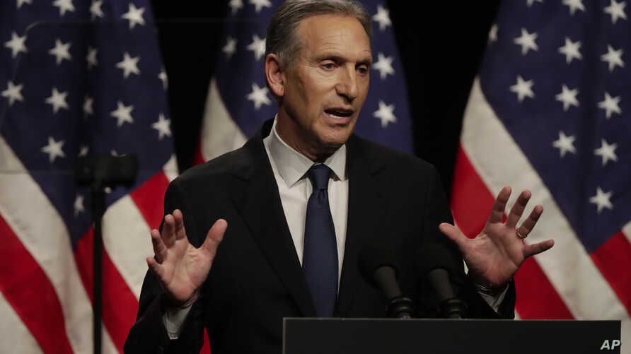 Former Starbucks CEO Howard Schultz speaks at Purdue University in West Lafayette, Ind., Feb. 7, 2019.