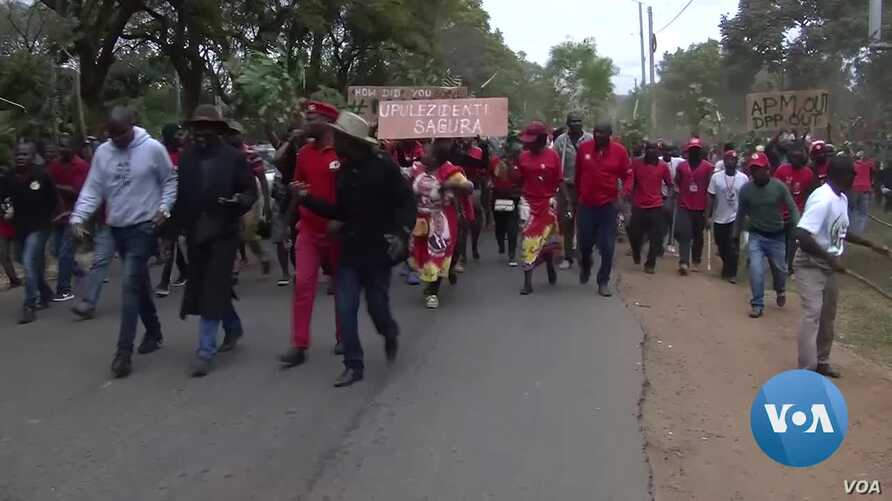 Malawi opposition supporters angry about the re-election of President Peter Mutharika have clashed with police, who used tear gas to break up the election protests.
