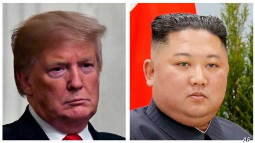 President Donald Trump, left, North Korea leader Kim Jong Un