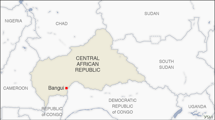 Map of the Central African Republic