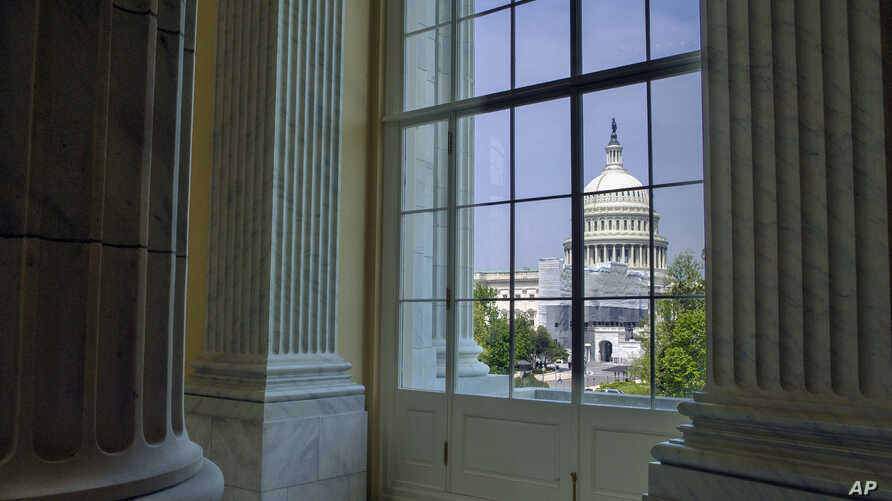 The Capitol is seen from the Cannon House Office Building rotunda, on Capitol Hill, in Washington, April 18, 2019.