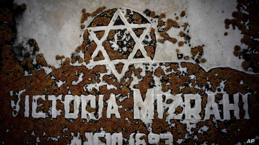 The Star of David decorates a tomb eroded by moss at the Jewish cemetery in Guanabacoa in eastern Havana, Cuba, June 7, 2019.