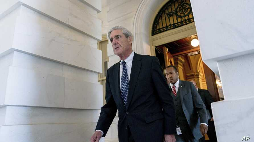 Robert Mueller, then-special counsel probing Russian interference in the 2016 election, departs Capitol Hill following a meeting with lawmakers, in Washington, June 21, 2017.