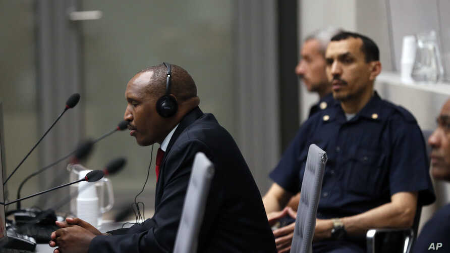 Congolese militia commander Bosco Ntaganda sits in the courtroom of the ICC during his trial at the Hague in the Netherlands, July 8, 2019.