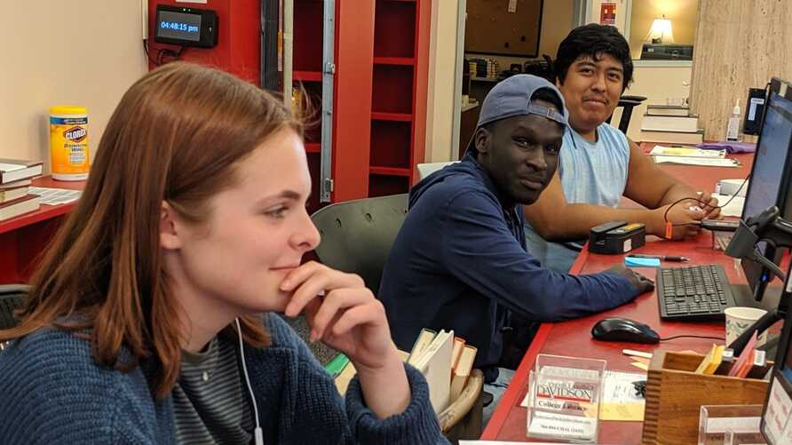FILE - Students study in the library of Davidson College, in Davidson, North Carolina. (Photo credit: Fuji Lozada, Twitter @thefieldworker)