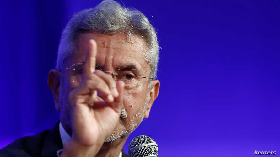 India's Foreign Minister Subrahmanyam Jaishankar gestures as he speaks in New Delhi, India June 6, 2019.