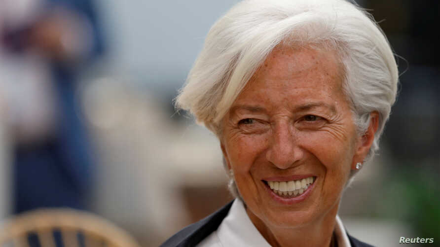 FILE - International Monetary Fund Managing Director Christine Lagarde arrives for the Women's Forum Americas, at Claustro de Sor Juana University in Mexico City, Mexico, May 30, 2019.