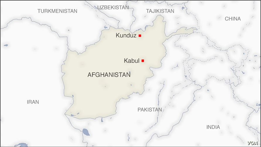 Map of Kunduz Afghanistan