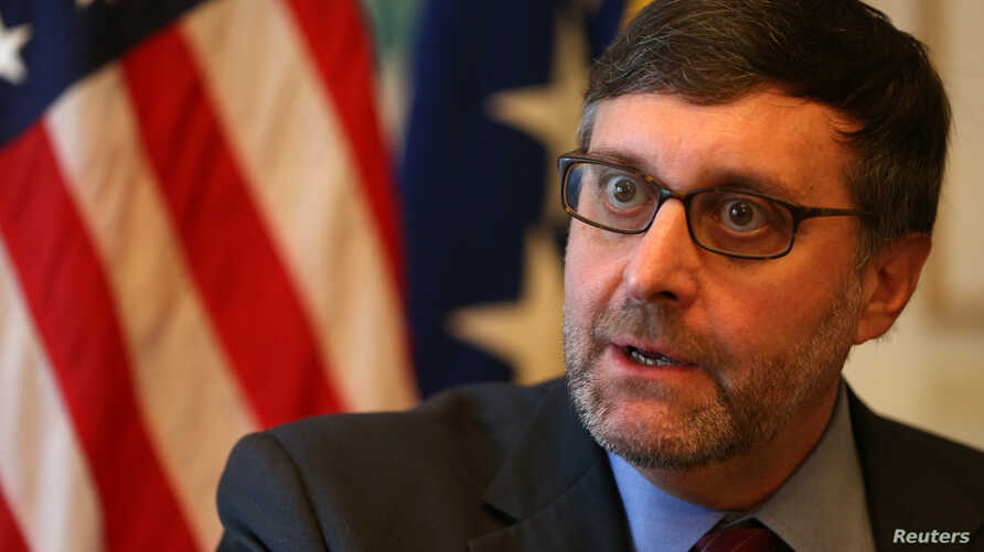 Matthew Palmer, U.S. State Department Director for South Central European Affairs speaks during an interview with Reuters in Sarajevo, Bosnia and Herzegovina Dec. 4, 2018.