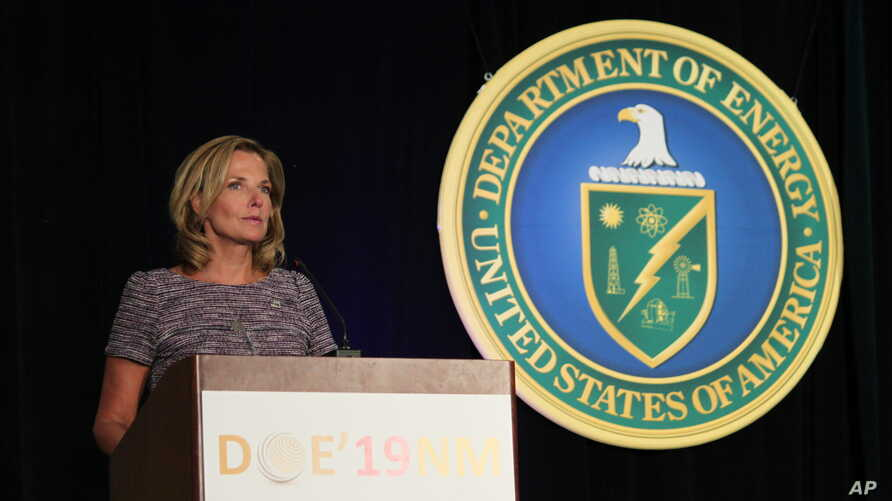 National Nuclear Security Administration administrator Lisa Gordon-Hagerty talks about her agency's work to reduce global nuclear threats during a business conference in Albuquerque, New Mexico, Aug. 6, 2019.