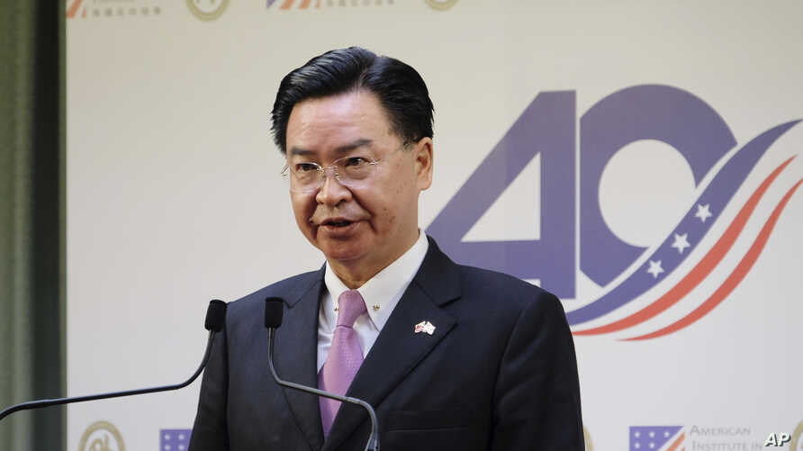 Taiwan's Foreign Minister Joseph Wu speaks during a press conference at the American Institute in Taiwan, in Taipei, March 19, 2019.